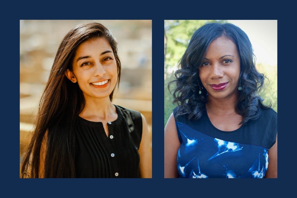 Kiran Misra (left) and Natalie Moore are the 2020-21 Richard C. Longworth Fellows. Images courtesy of Kiran Misra and Natalie Moore.