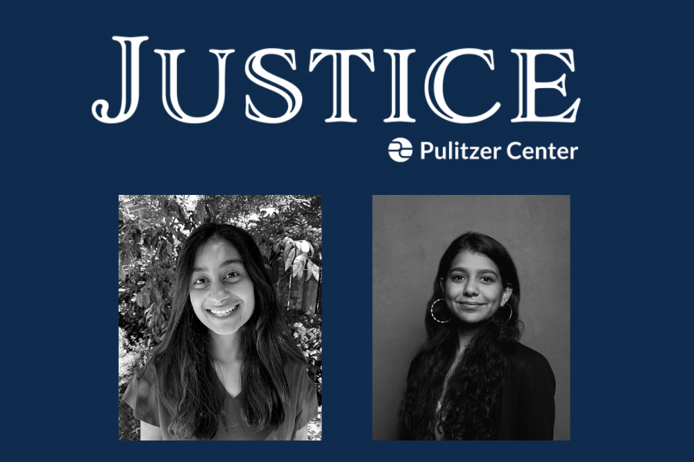 Meera Santhanam, an undergraduate at the University of Chicago (left), and Apoorva Mittal a graduate of Northwestern University's Medill School of Journalism (right), are the winners of the 2020 Pulitzer Center Justice Fellowships.