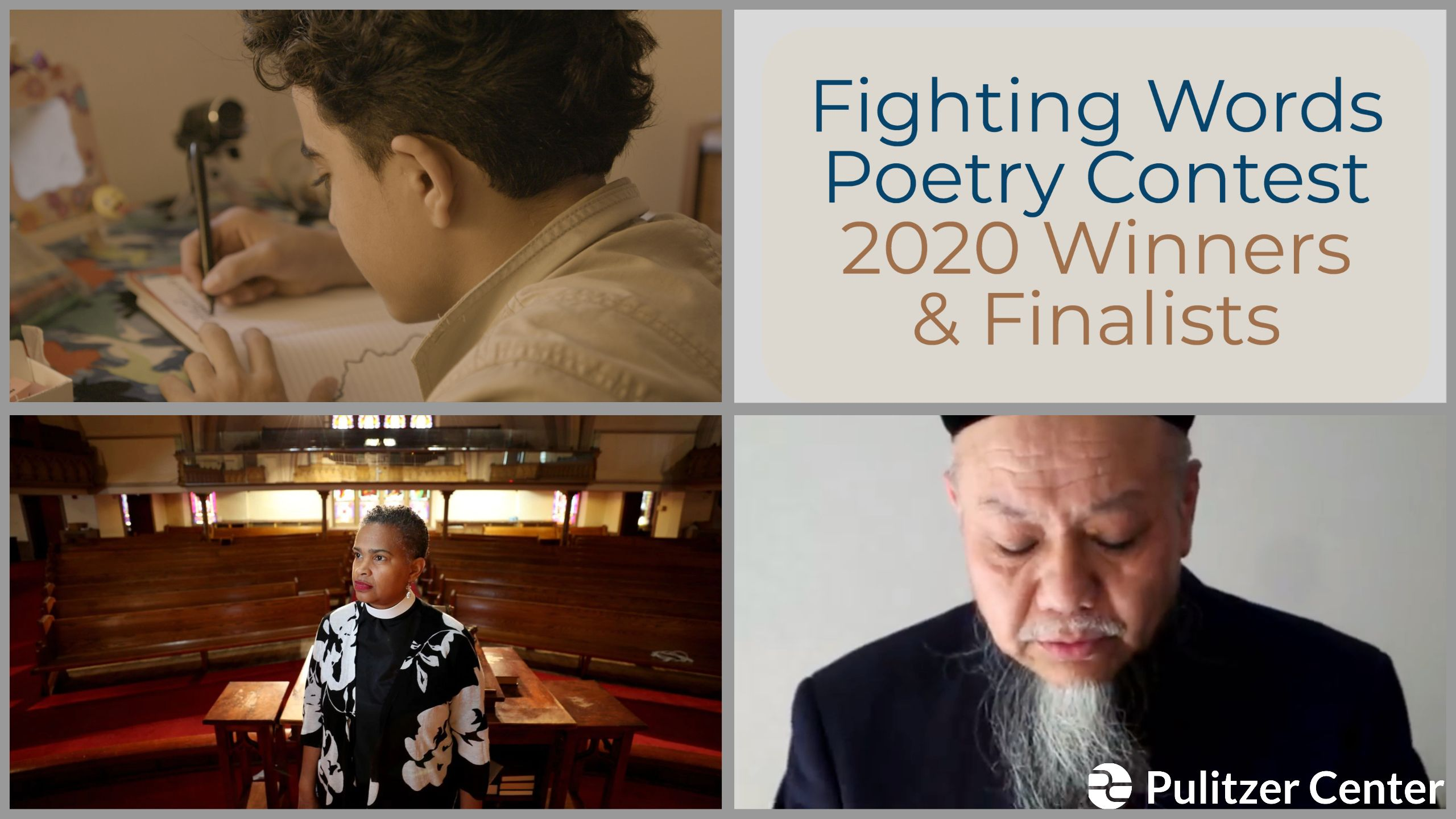 Announcing the 2020 winners of the Fighting Words Poetry Contest.