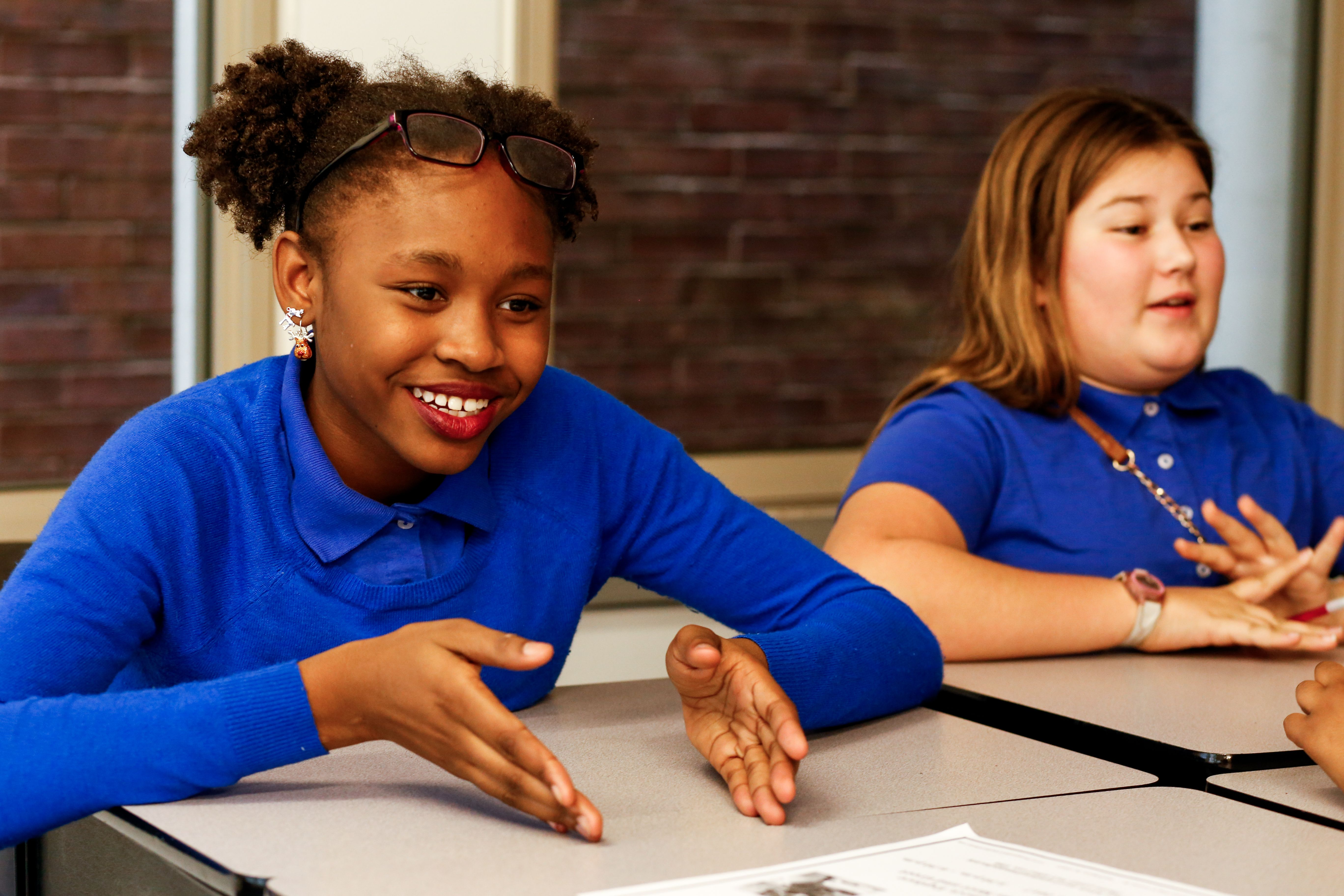 Students at Washington Global Public Charter School. Image by Eslah Attar. United States, 2017.