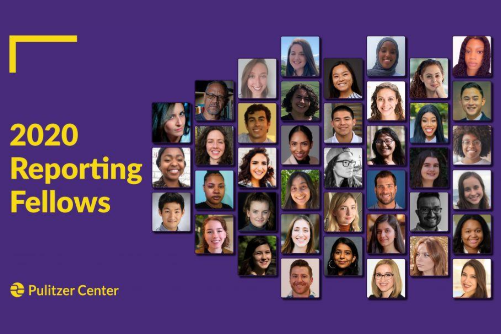 Congratulations to the 2020 Pulitzer Center Reporting Fellows. Graphic by Lucy Crelli.