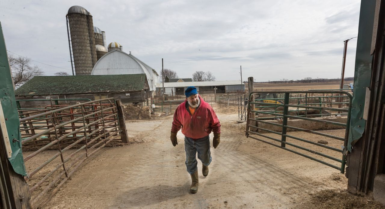 Clem Mess bought Mesa Farms in 1971 after returning from the Vietnam War. Last year, the farm only had about $19,000 in net income. Image by Mark Hoffman. United States, 2019.