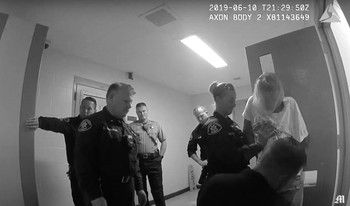 Police body-cam footage shows Christian Madrigal complying before his death. Image courtesy of Mercury News. United States, 2019.